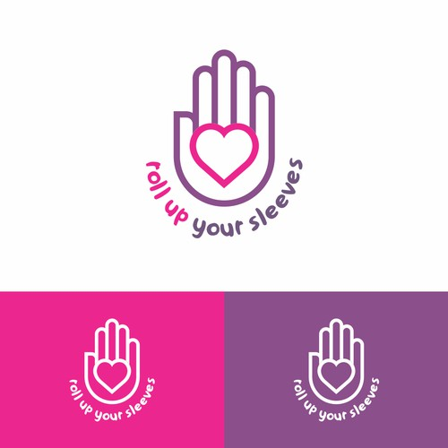 Logo concept for Roll Up Your Sleeves Event