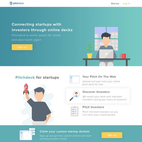 Pitchdeck Landing Page