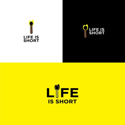 Simple but Meaningful Logo for LIFE IS SHORT!
