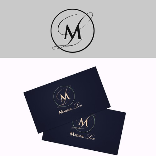 Logo concept for ice cream company called Madame Lou