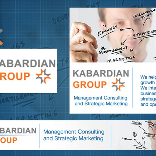 Banner ads for management consulting / marketing strategy firm