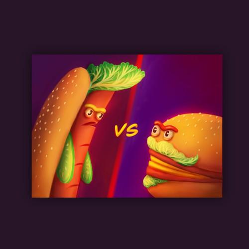 Hot Dogs vs. Hamburgers