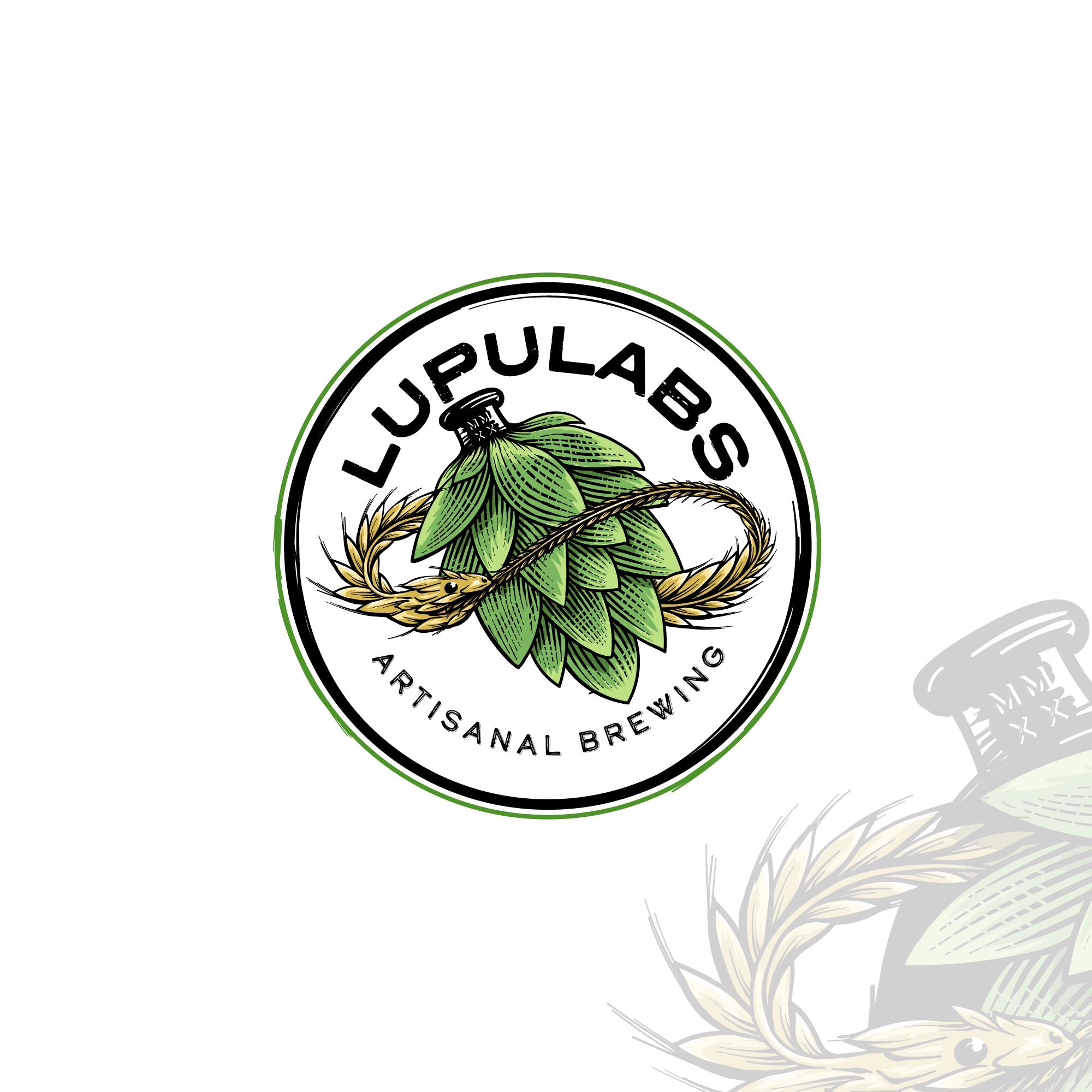 International Craft Brewery LUPULABS logo design