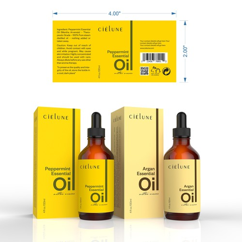 Create a Simple Brand Packaging for Pure Essential Oil Company
