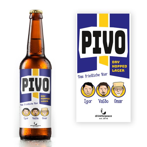 Personalised label design for beer company.