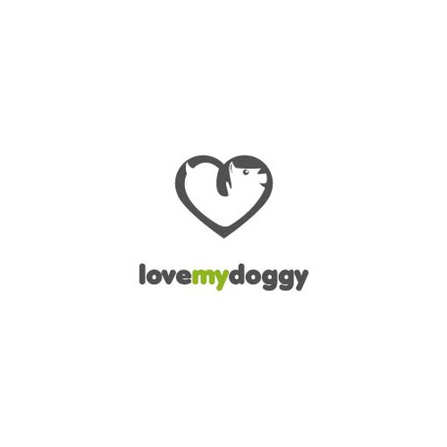 "Create a logo/mascot for ""love my doggy"""