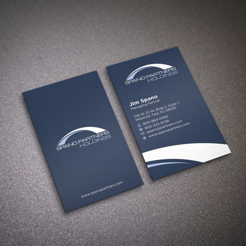 Design a sleek, confident, modern business card for a cutting edge renewable energy investment firm