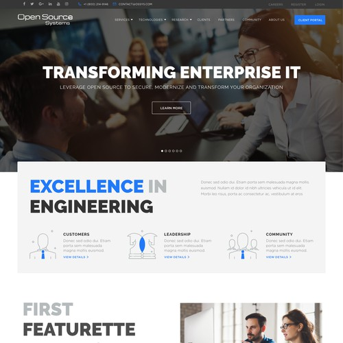 Clean & Modern Design for IT Site