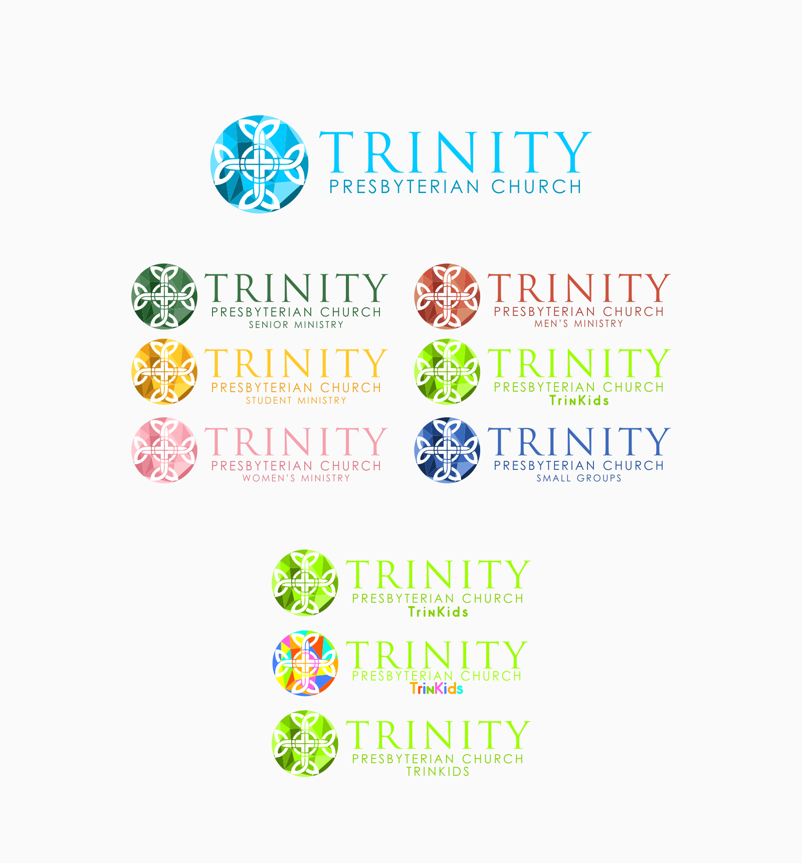 Suite of logos for a young, growing church