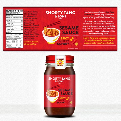 Bring the sesame sauce into your life for Shorty Tang & Sons