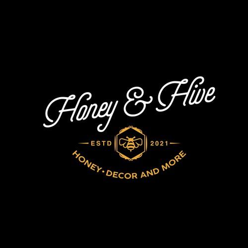 Logo for a honey manufacturer