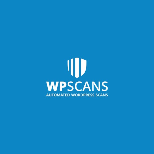 Simple but meaningful logo for WordPress security scanner: WPScans