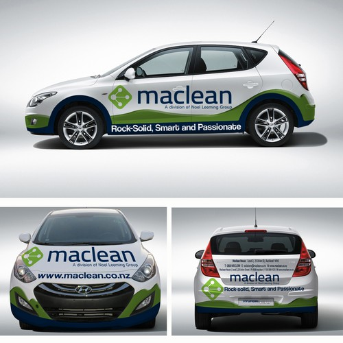 Create an eye catching graphics for Maclean's car fleet