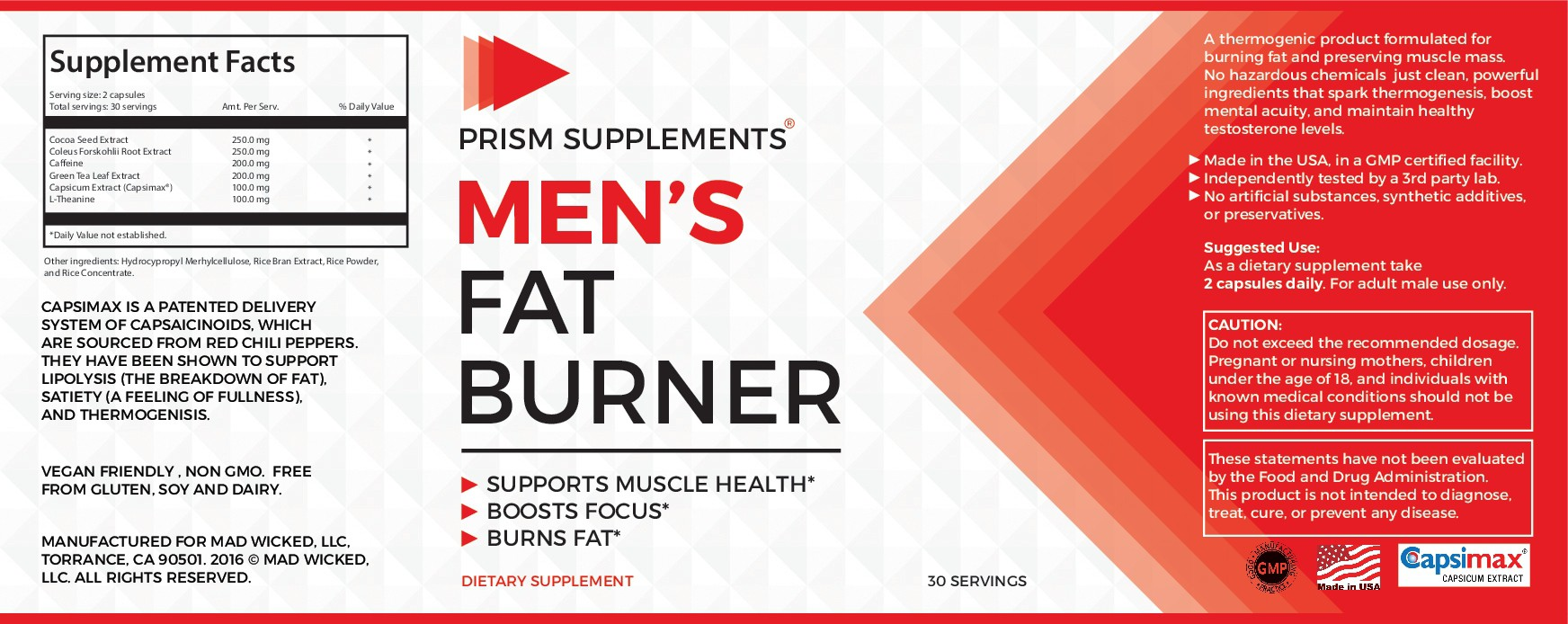 Thermogenic/Weight Management Product Label contest