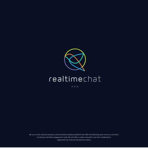 logo for realtime chat pro