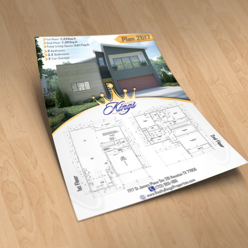 Create a 1 page real estate flyer