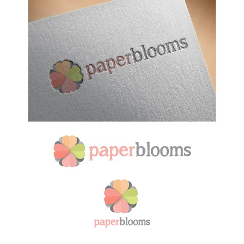 Create a fresh Logo for new ecofriendly label PaperBlooms