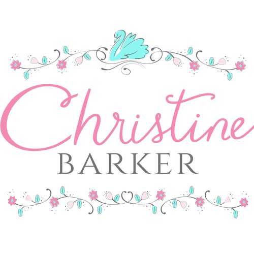 Create a whimsical, eye-catching logo for Christine Barker