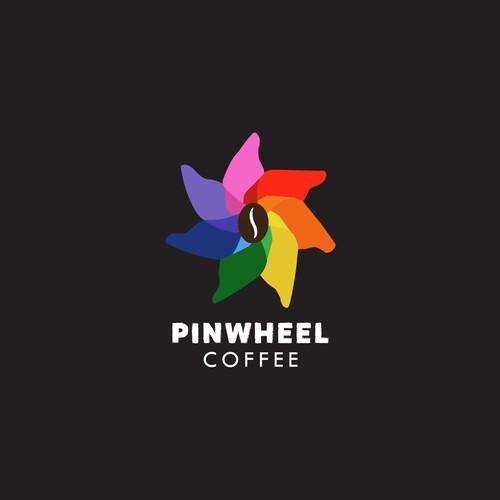 Pinwheel Coffee Logo Entry