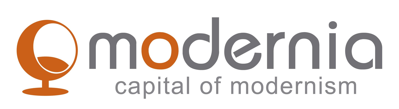 logo para tienda de objetos y mobiliario  mid century modern