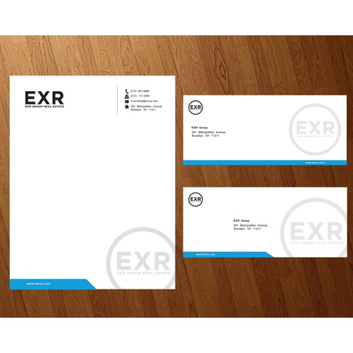 Stationery for a major brokerage