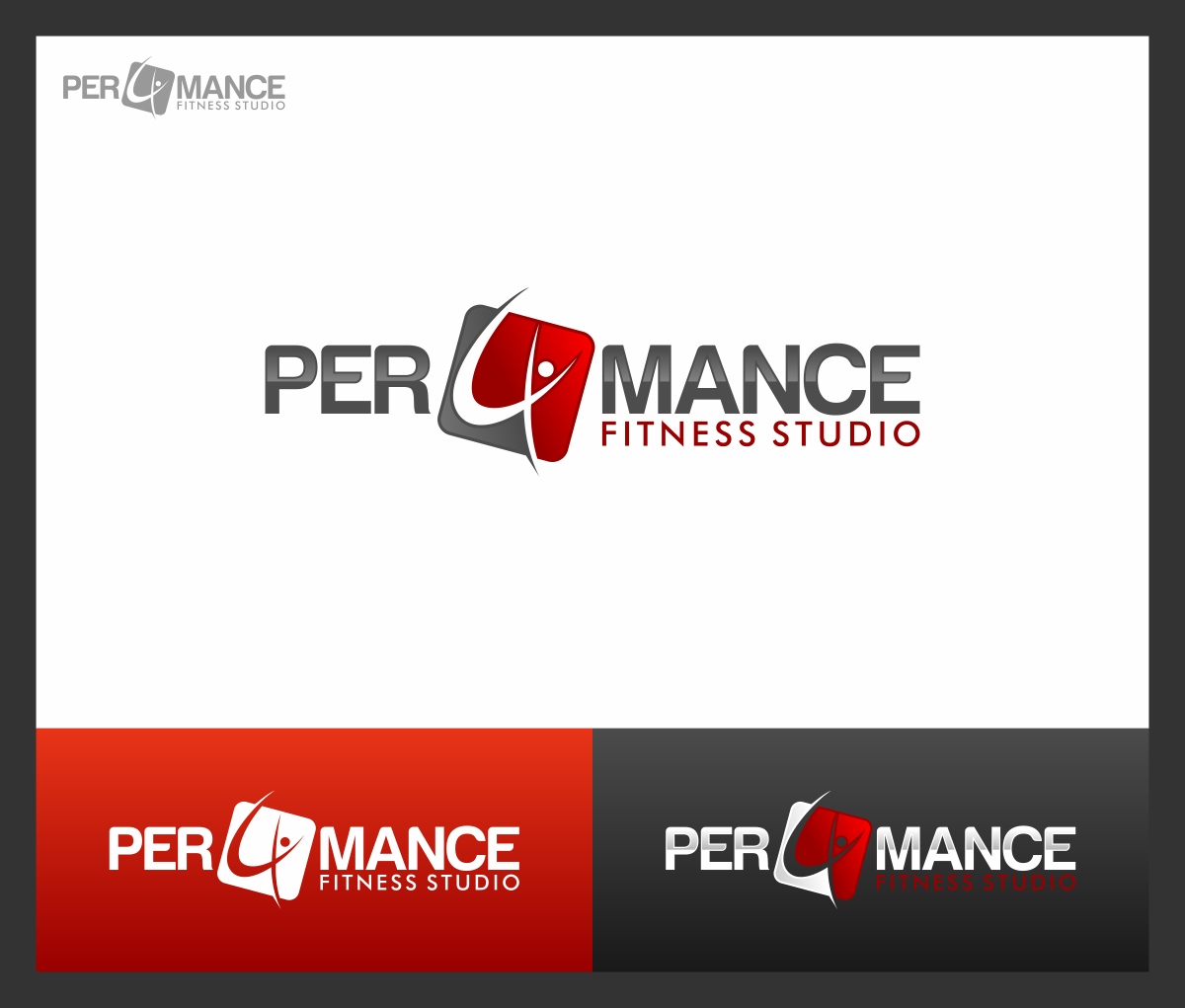 Help Per4mance Fitness Studio with a new logo