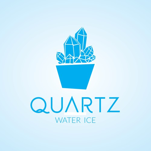 Create a sense of edgy nostalgia for our gourmet shop- Quartz Water Ice