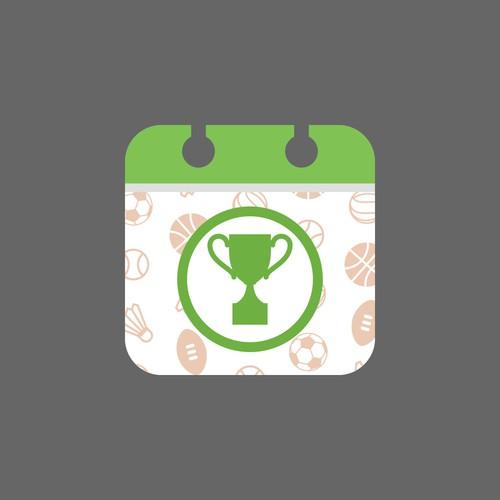 Calendar sport icon