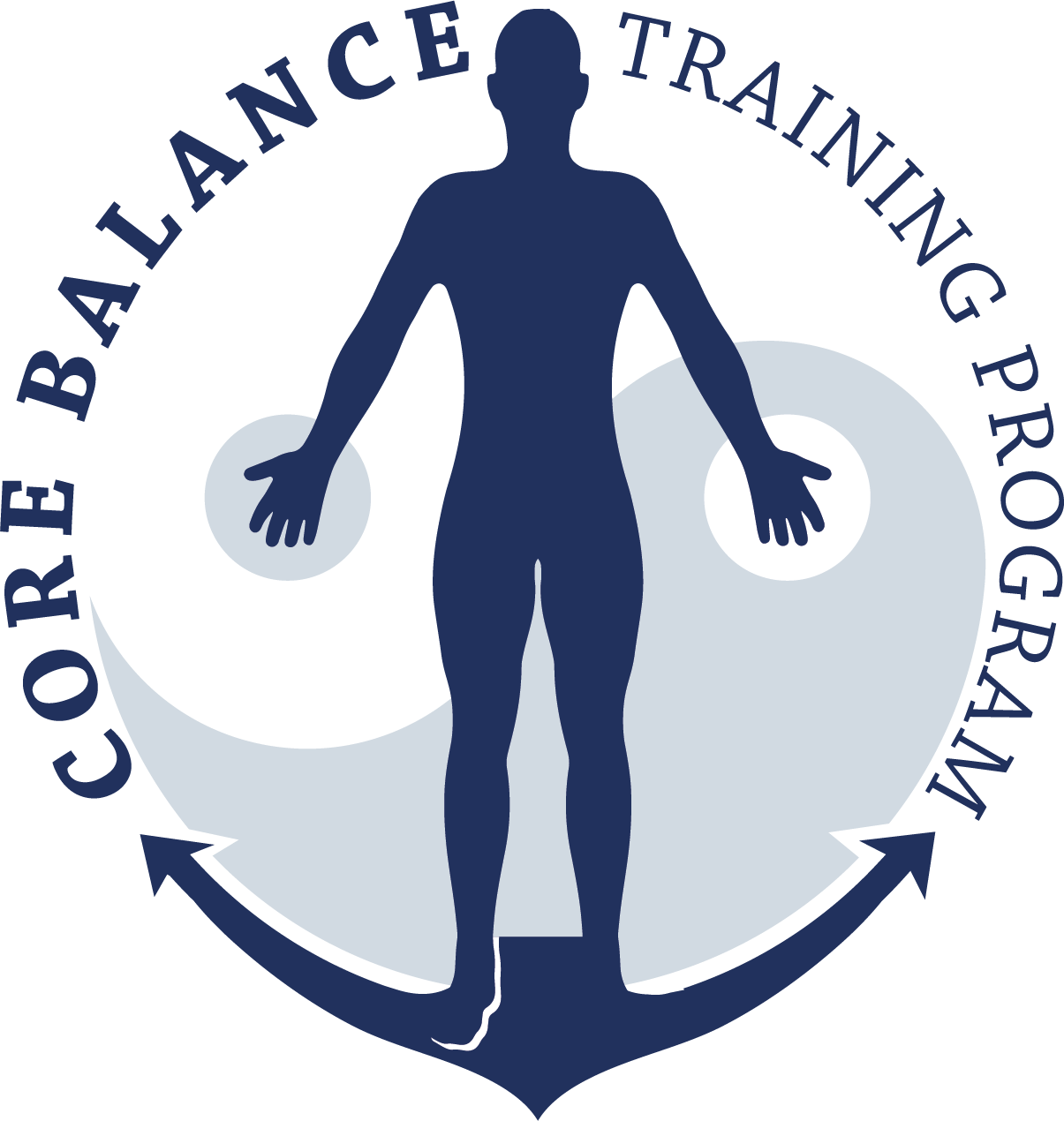 A simple and professional logo representing balance and strength within the human body - the foundation of life