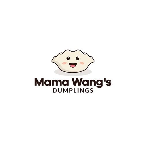 Logo for a company that sells frozen dumplings