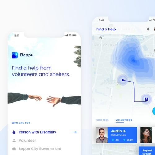 Volunteer app concept