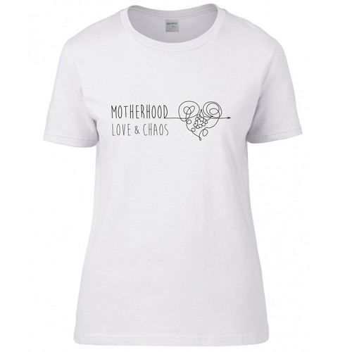 T-shirt design for first-time mommy and her blog