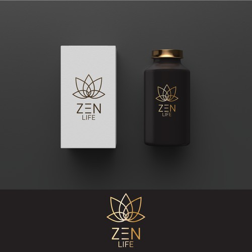 Product and logo design example for Zen Life