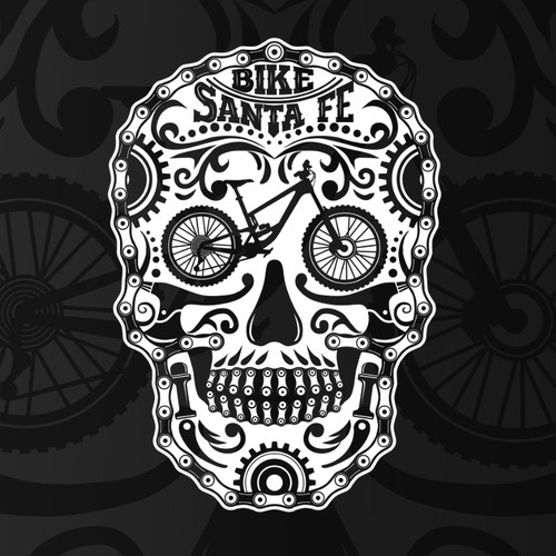 Mountain Biking Skull T-Shirt Design!