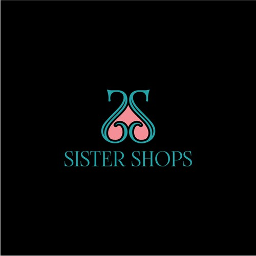 beautiful logo concept for Sister Shops