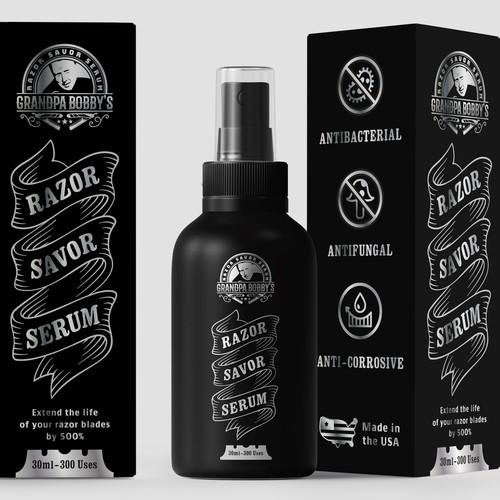 Razor Savor Serum Packaging and Label design