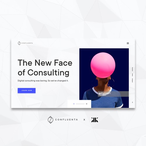 A bold concept for IT-Consultancy Firm, with beautiful imagery and straight-to-the-point wording