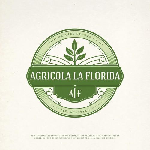 AGRICOLA LA FLORIDA LOGO DESIGN