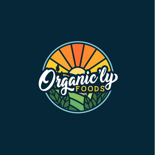 Logo Design for Organic'ly Foods