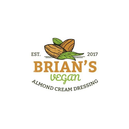 "Logo concept for ""Brian's Vegan Almond Cream Dressings"""