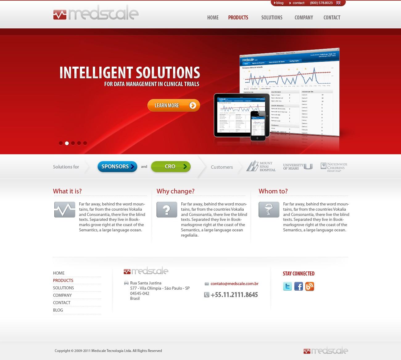 New website design for Medscale