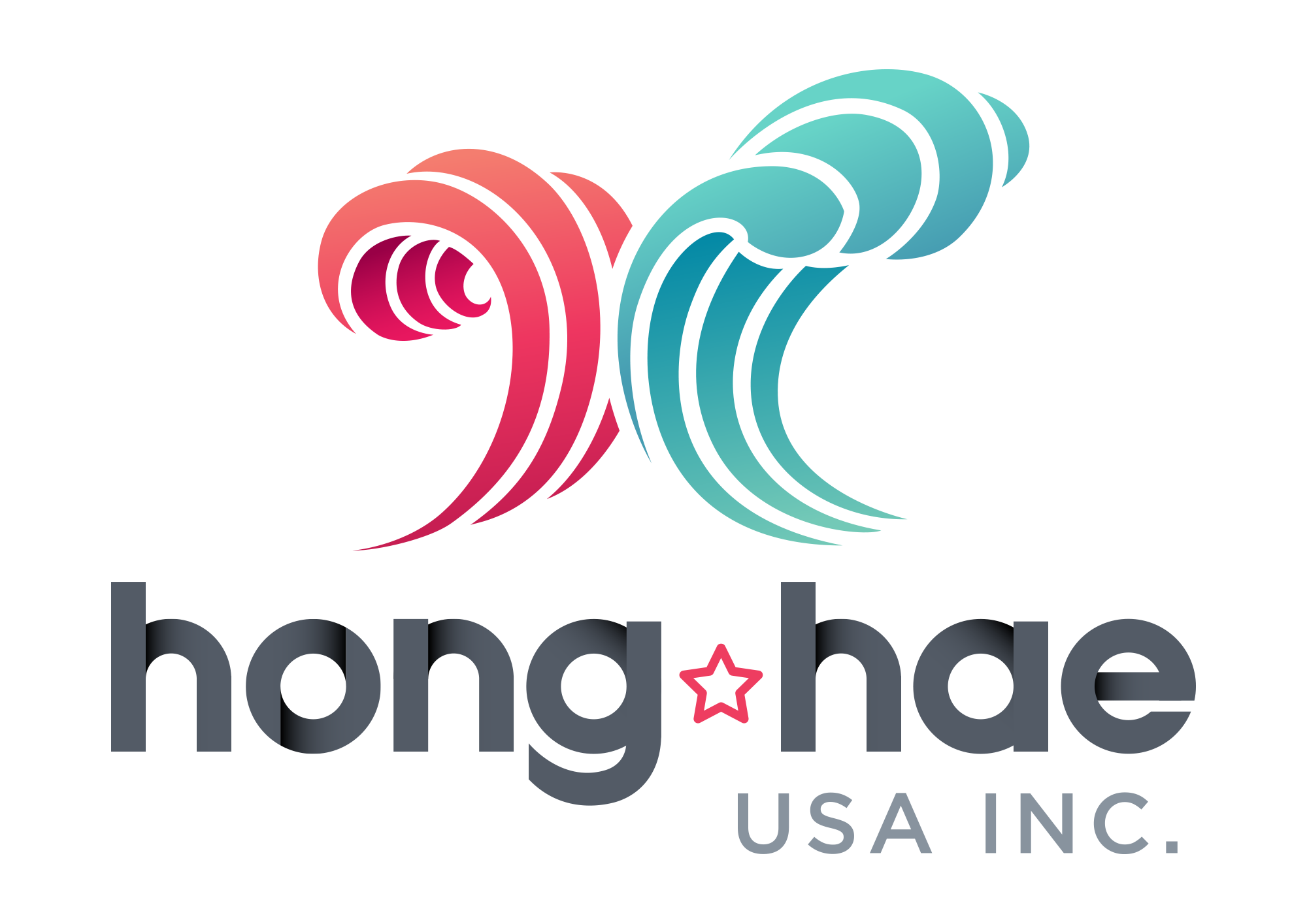 Color change to star located in the Hong Hae logo