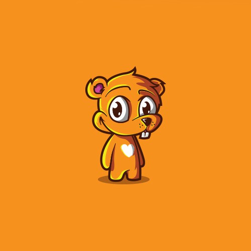 Cute animal mascot