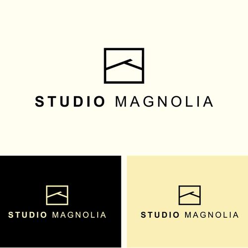 logo concept for studio magnolia