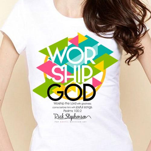 worship god t-shirt design