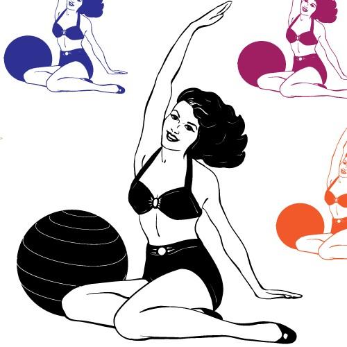 Vintage Pilates Mermaid