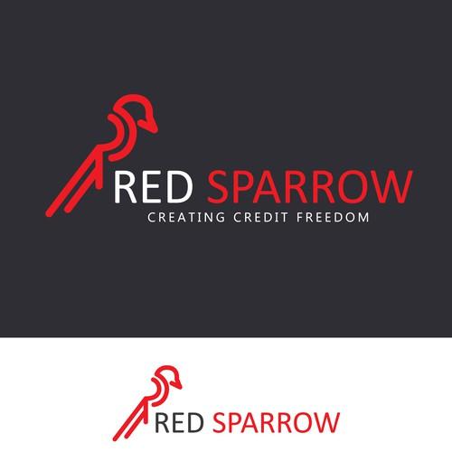 Logo red sparrow