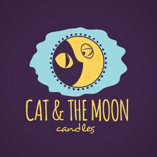 Cat And Moon Logo
