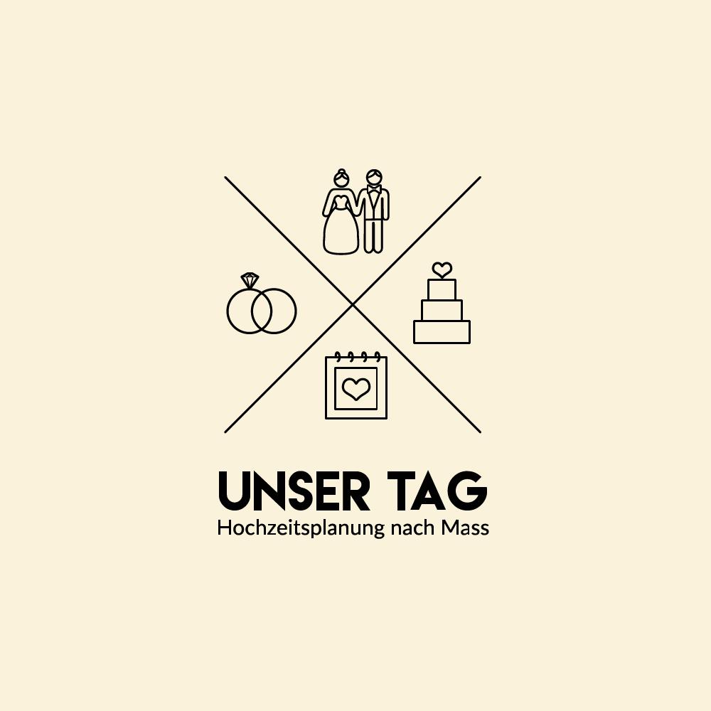 """Erstelle ein edles und schlichtes Hochzeitslogo für """"Unser Tag - Hochzeitsplanung nach Mass"""""""