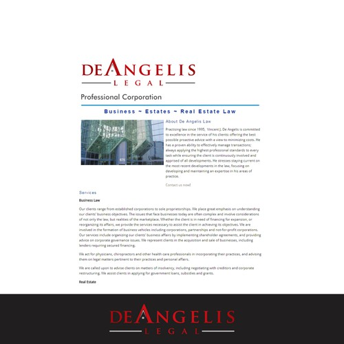 Create a logo for DeAngelis Legal